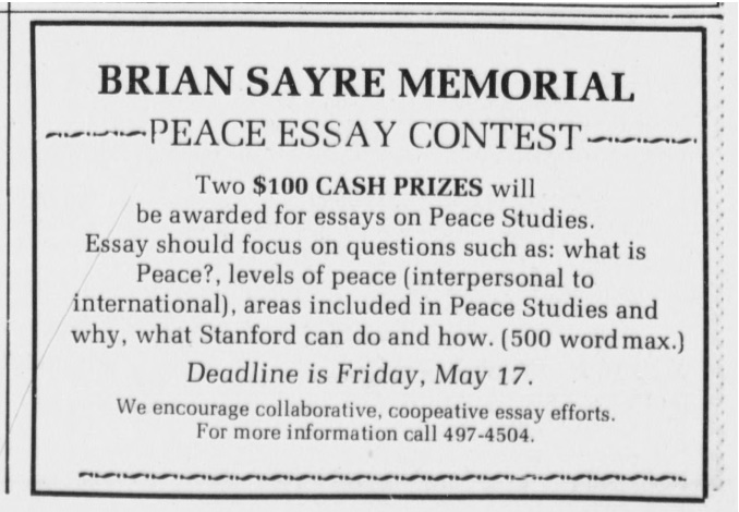 what is peace essay